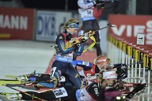 Mona Brorsson på vallen. Svenskan slutade 31:a, med två bom. En klart godkänd insats.
