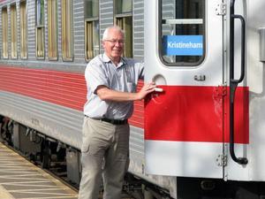 Tågåkeriets vd Lars Yngström kan konstatera att premiärturen på direktlinjen Göteborg - Mora lockade ett 100-tal passagerare.