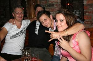 Konrad. Per, Lars, Osbak och Nathalie