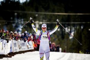 Björgen vann i tävlingscomebacken. Men den här bilden är från familjeloppet Marit Björgen-rennet i vintras.