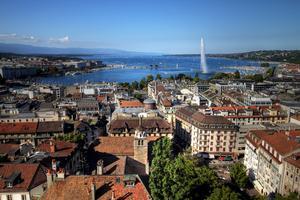 Genève har utsetts till en av de mest romantiska platserna att åka till.