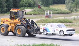 Tävlingen innehöll relativt få incidenter, men för Rickard Olsson, Karlskrona AK, slutade dagen med traktotransport efter en avåkning.