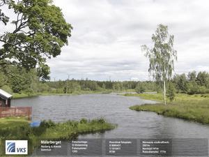 Vindenergi. Bilden är ett (beskuret) fotomontage av VKS Vindkraft som enligt företaget visar en vy från Olsbenning, på två och en halv kilometers avstånd till det närmaste vindkraftverket.Foto: VKS Vindkraft