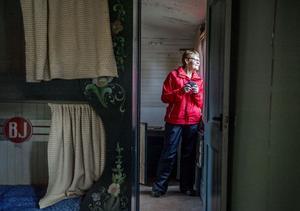 Britt-Marie Lindros donerar nu den gamla tågvagnen till Gefle-Dala  museijärnväg.