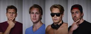 Johan Gunterberg, Tor Wallin, DJ Hunk och Christopher Martland Ristic.