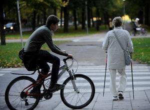 Vid ändrade regler för cykelöverfart bör erfarenheterna från zebralagen beaktas. Det är betydligt svårare för bilisten att upptäcka cyklande och mopedister.Foto: Bertil Ericson / SCANPIX
