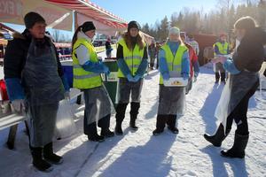 Funktionärer från spelmanslag och handbollslag, Gun-Britt Olsson, Tilda Olsson, Tilda Siljevik larsson, Felicia Kuus och Anna Zetterqvist.