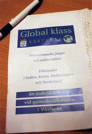 Fasas ut. Proaros har stoppat intagningen till Global klass. foto: VLT:s arkiv
