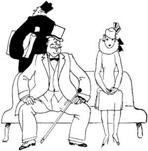 Prolongationssoffan.   Illustration: Clipart