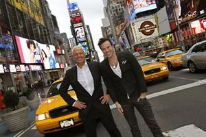 Inspirationsresa. Martin Stenmarck och Frank Andersson är i New York för att kolla på shower och sno idéer till Ladies Night som kommer till Gävle igen i höst.