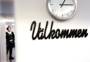 Nu hälsar Carina Eriksson alla Ovakoanställda välkomna till deras nya företagshälsolokal. Hon ser fram emot arbetet.