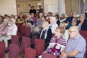 Det var många äldre som kom för att lyssna på dagens olika föreläsningar.