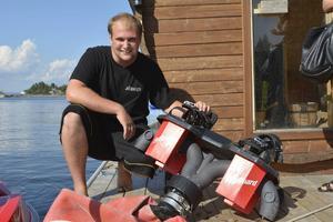 Jörgen Svensson fastnade för flyboarding som vattensport första gången han såg det 2012.