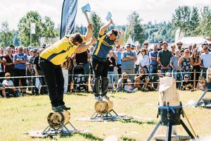 Stihl Timbershow på Jämtland Game Fair förra sommaren.