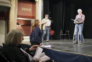 Repetition av Forsablått, i Hudiksvalls teater.