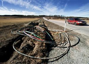 bredband på väg. Regeringens ambition för bredband på landsbygden räcker inte, anser skribenterna.Foto: Tony Persson/arkiv