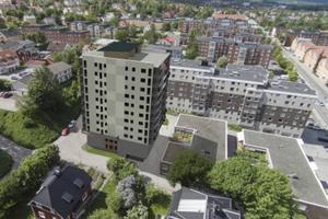 Två av tre lägenheter vid Erstagatan, ovanför Esplanaden, är sålda.