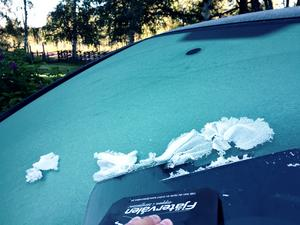 Frost och is på rutor på torsdagsmorgonen.