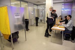 Ovvisst val.  Förtidsröstningen pågår, men hur blir det slutliga resultatet i EU-valet?