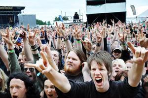 Rockentusiaster vallfärdar varje år till den lilla orten Norje utanför Sölvesborg där Sweden rock festival, sveriges största rockfestival, hålls varje år.Foto: Lasse Ljungmark