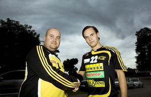 Drömstart. Sura nya tränarduo Stefan Lindgren och Peter Hofer vann premiären. Hofer är assisterande spelande tränare i år.