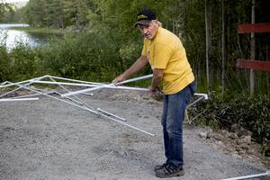 Tore Granbom, ordförande i Gussjö IF. är en av många drivande ideella krafter i Gussjö.