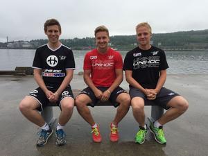 Anton Byström, Oscar Lundin och Simon Sedin återförenas i Örnsköldsvik Innebandy inför 2016/2017.