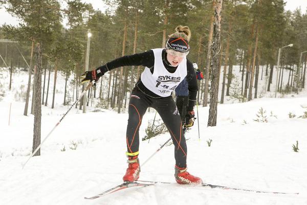 Enja Jonsson från Ytterhogdal har en fin säsong bakom sig. I Sveg blev det en fjärdeplats i D14 klassen.