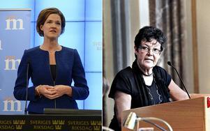 Moderaternas partiledare Anna Kinberg Batra och kommunstyrelsens ordförande i Gävle, Inger Källgren Sawela, M