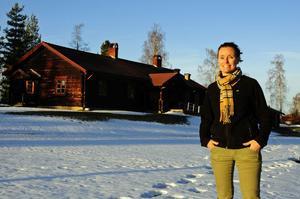 Cia Melvindotter, verksamhetschef på ScaDuMe i Dalarna AB, ser fram emot att hälsa barnen välkomna till den nya förskolan.