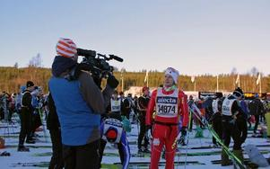 Filip Hammarström vid starten.FOTO: PALLADIUM FILM