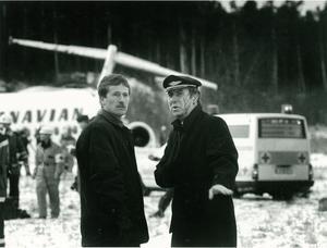 Befälhavaren Stefan Rasmussen till höger.