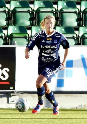 Arkivbild. Hanna Glas lämnade moderklubben Sundsvalls DFF efter säsongen 2012.