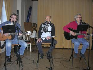 Trio Kontrast, från vänster: Kimmo Hulkkonen, Hans Hedenström, Per-Olof Hiller.