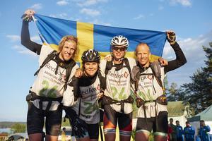 Clas Björling från Mockfjärd vann EM-brons i Adventure racing med Team Sweden. Här tillsammans med sina lagkamrater Staffan Björklund, Marika Wagner och Rickard Norlin.