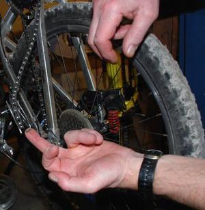 Vårproblem. Många cyklar får problem med växlarna under vintern.
