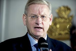 Pratade globalisering. Carl Bildt ägnade en stor del av sitt linjetal åt globaliseringen, internet och EU. Det blev mindre utrymme för de konkreta sakfrågorna. Arkivbild: Bertil Ericson/SCANPIX