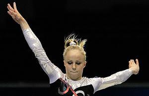 Mot OS? Jonna Adlerteg från Västerås imponerade vid OS-kvalen i gymnastik. Nu är det upp till SOK att ge henne det sista klartecknet för OS-platsen.
