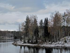 Gideåälven på torsdagen, fotat av Henny Eriksson, Husum.