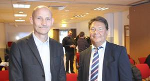Patrik Blomander och Ken Ejderhamn på Fortifikationsverket.
