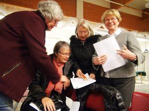 Marianne Lindström, Anna-Greta Pålsson, Eva Lindén och Karin Andersson representerade Krokoms konstförening och vill gärna finnas med i diskussionen om vad som ska hända i före detta Konsumbutikens lokaler.