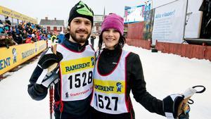 2014. 28 Prins Carl Philip och Sofia Hellqvist i Mora efter att ha deltagit i StafettVasan.