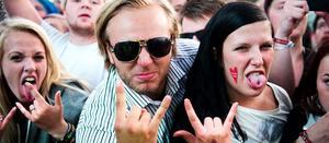 Stämningen var hög när Scrillex spelade på Peace and Love-festivalen 2012.