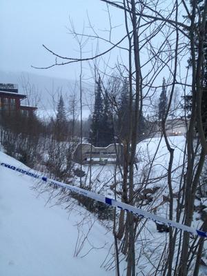Ett stort område är avspärrat i Åre.