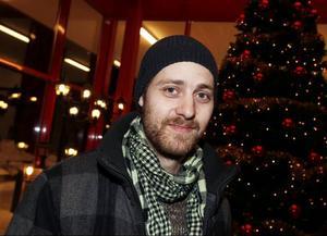 Johan Svensson, 31 år, Tierp, tatuerare:– Jag förväntar mig ingen julklapp. Det är bra ändå.