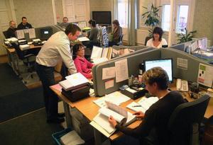 Moderna försäkringar har sedan tre år tillbaka haft sitt kontor  i Ragunda gamla tingshus.Foto: Ingvar Ericsson