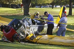Harrison Ford kraschade med sitt privatplan på en golfbana i början av mars i år.