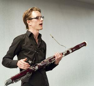Sebastian Stevensson har fått stipendium för sitt fagottspel.