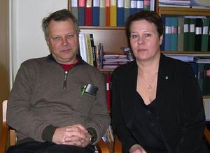 Thomas Tejle och Linnea Stenklyft, vice ordförande respektive ordförande i individ och familjeomsorgsnämnden i Sollefteå.