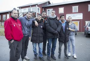 Bssam Abuokenan, Ali Salah, Morteza Ahmadpour, Mohanad Irig, Saad Mushtaq, Farid Hossini och alla andra på Nicksta är tacksamma för omtänksamheten nynäshamnarna har visat.